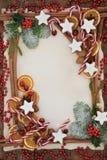Граница еды рождества абстрактная Стоковые Фотографии RF