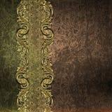 Граница золота на предпосылке grunge Стоковое Изображение