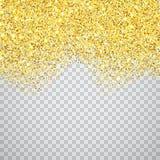 Граница золота текстурированная ярким блеском стоковая фотография rf