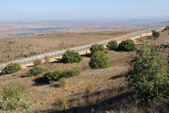 Граница Израил-Сирия Стоковая Фотография