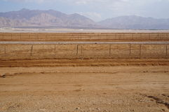 Граница Израильск-жителя Иордана Стоковое Изображение