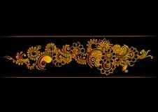 Граница индейца золота Стоковое Фото