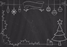 Граница и предпосылка классн классного с чертежом рождества Стоковая Фотография