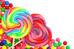 Граница конфеты стоковая фотография rf