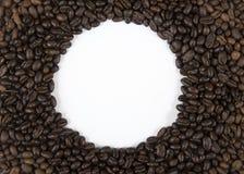 Граница кофе круглая Стоковая Фотография