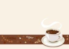 Граница кофе с чашкой кофе Стоковые Изображения RF