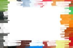 граница красит иллюстрацию рамки пастельной Стоковые Изображения RF