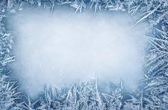 Граница кристалла Frost стоковая фотография