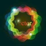 Граница круга с световыми эффектами Стоковое Изображение RF
