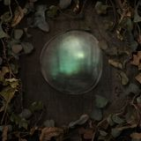 Граница лоз сказки фантазии с пузырем иллюстрация штока