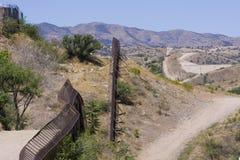 граница международная Мексика США Стоковые Фото