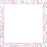 Граница нарисованная рукой флористическая розовая Стоковое Фото