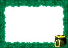 Граница на день St. Patricks Стоковая Фотография