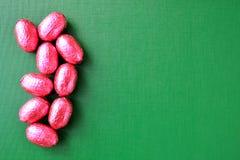 Граница пасхи яичек шоколада Стоковая Фотография