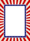 граница патриотическая Стоковое Изображение RF