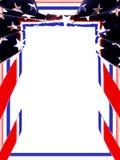 граница патриотические США иллюстрация вектора