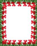 Граница поздравительной открытки рождества Стоковая Фотография