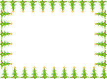Граница поздравительной открытки рождества Стоковые Изображения RF