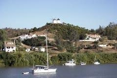 граница Португалия Испания Стоковое Изображение RF
