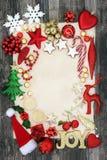 Граница предпосылки безделушки рождества Стоковые Изображения RF