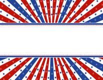граница предпосылки патриотическая Стоковая Фотография