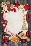 Граница предпосылки рождества декоративная Стоковые Изображения RF