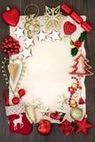 Граница предпосылки рождества праздничная Стоковое Изображение