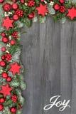 Граница предпосылки утехи рождества Стоковое фото RF