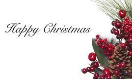 граница предпосылки кладет тесемки в коробку подарка рождества золотистые изолированные белые Стоковые Изображения