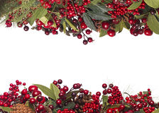 граница предпосылки кладет тесемки в коробку подарка рождества золотистые изолированные белые Стоковое Фото