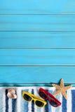 Граница предпосылки пляжа лета Стоковое Изображение RF