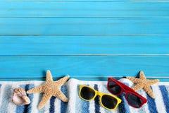 Граница предпосылки пляжа лета Стоковые Изображения