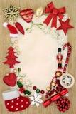 Граница предпосылки рождества Стоковое фото RF