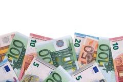 Граница различного различного евро представляет счет космос экземпляра Стоковая Фотография