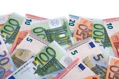 Граница различных различных счетов валюты евро Стоковые Фотографии RF