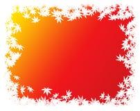 Граница/рамка листьев осени Стоковое фото RF