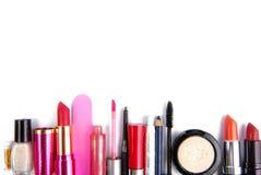 Граница рамки косметики isoalted комплектом Стоковое Фото