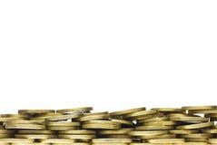 Граница рамки кучи золотой монетки Стоковое Изображение