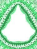 Граница рамки рождества зеленая белая, картина заморозка праздника, оранжевая Стоковые Фотографии RF