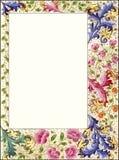 Граница рамки типа год сбора винограда флористическая Стоковая Фотография RF