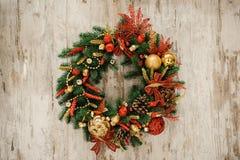 Граница рождества от венка рождества полезного как украшение рождества Стоковые Фотографии RF