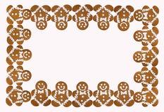 Граница рождества праздника печений людей пряника стоковая фотография rf