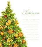 Граница рождественской елки Стоковое Изображение