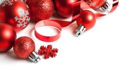 Граница рождества с орнаментом Стоковые Фото