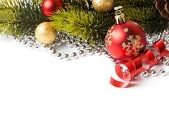 Граница рождества с орнаментом Стоковые Фотографии RF