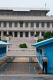 Граница Северной Кореи севера и юга JSA DMZ Стоковые Фото