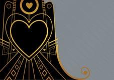 Граница сердца стиля Арт Деко иллюстрация вектора