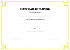 Граница сертификата Стоковая Фотография RF