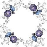 Граница сини и фиолета розовая Стоковые Изображения RF