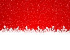 Граница снежинки рождества Стоковое Изображение RF